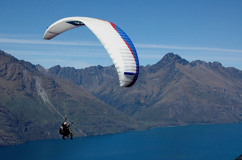 Parachute, Fly, Sky, Blue, Paragliding, Float