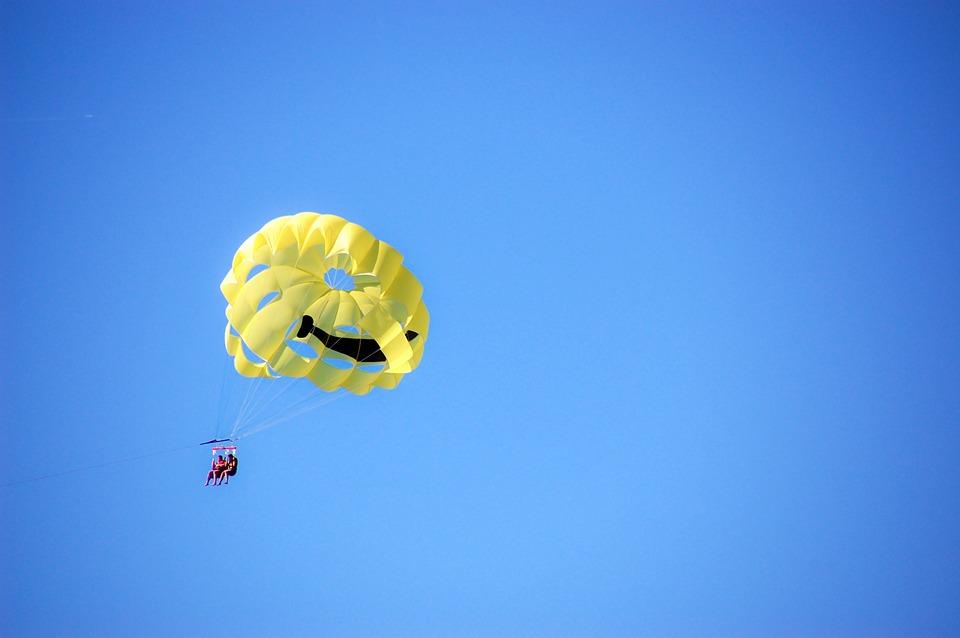 Sports, Parachute, Paraglider, Sky, Paragliding
