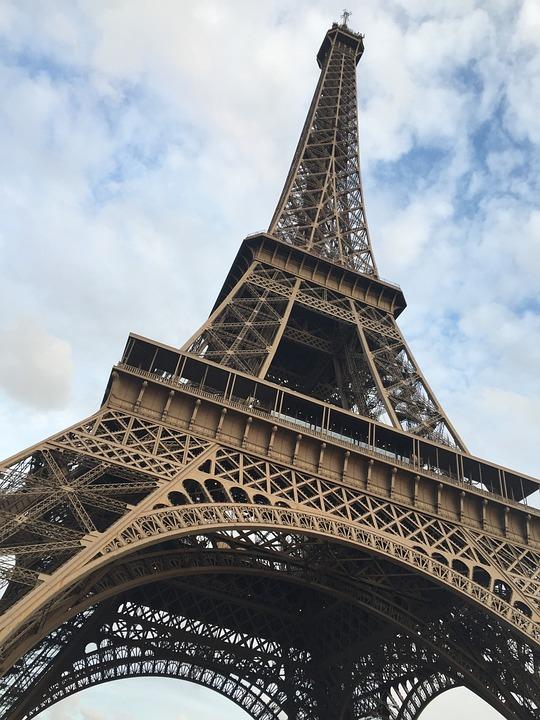 Eiffel, Tower, From Below, Paris, Sky, Icon