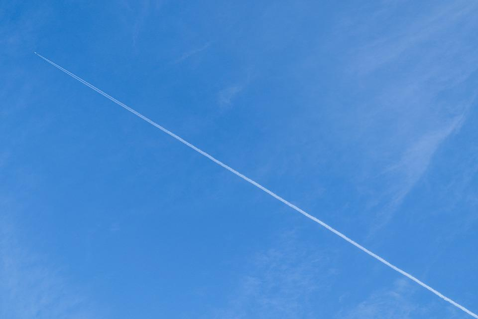 Sky, Cloud, Plane, Landscape, Blue Sky, Clouds, Blue