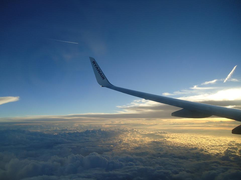 Clouds, Plane, Sky