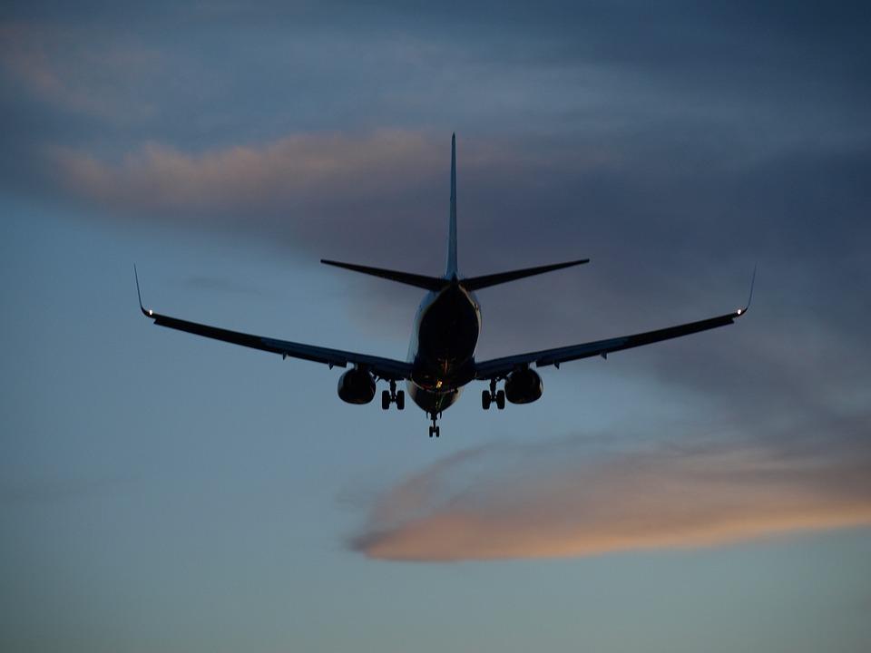 Plane, Landing, Arrival, Jet, Sky, Silhouette, Airliner