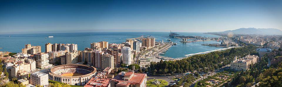 Sea, Sky, Port, Summer, Harbour, Spain, City, Malaga