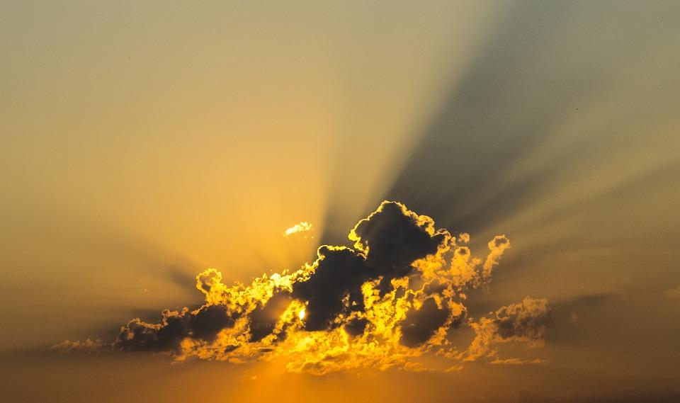 Cloud, Sky, Yellow, Radius, Sunshine, Sunset, Clouds