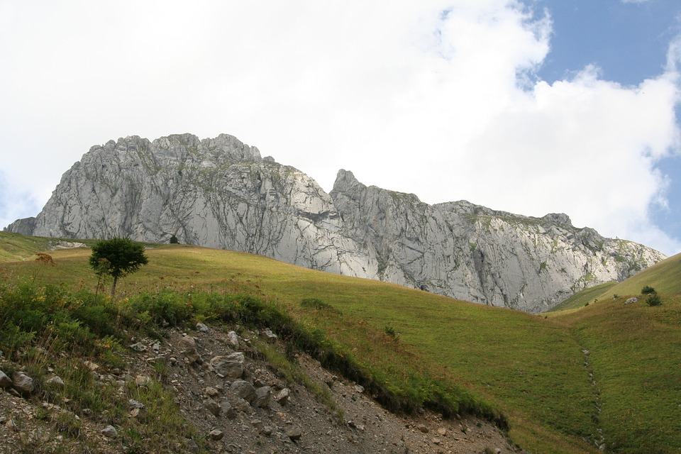 Mountain, Alps, Rock, Landscape, Summit, Rando, Sky