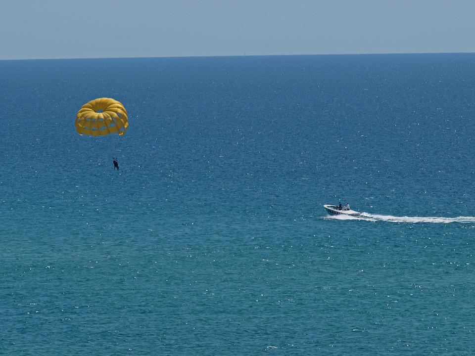 Sky, Water, Sea, Recreation, Parachute, Seashore, Beach