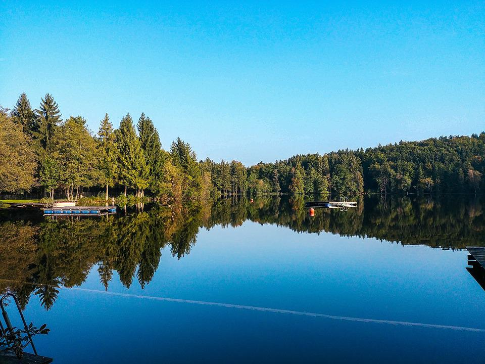 Lake, Tüttensee, Mirroring, Reflection, Water, Sky