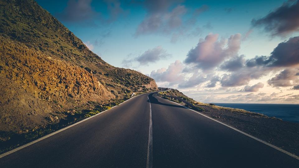 Road, Coast, Sea, Ocean, Nature, Sky, Travel, Blue