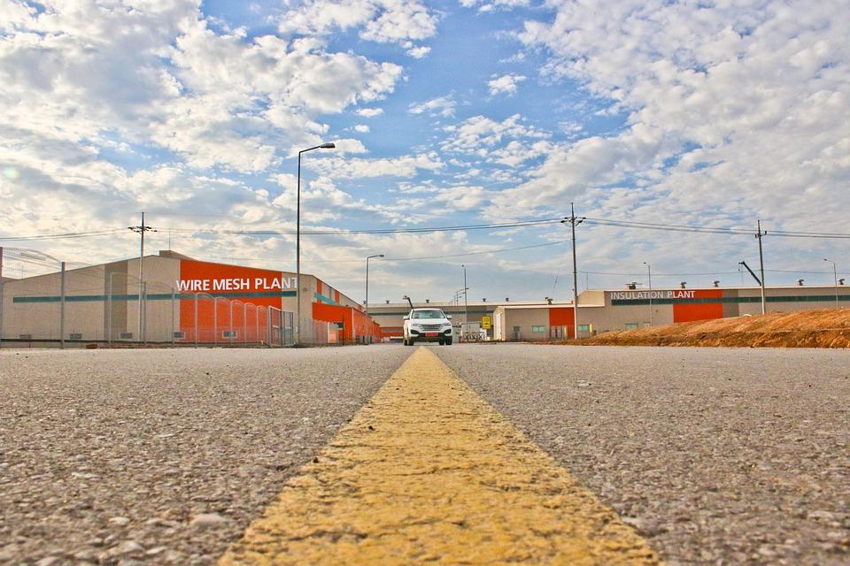 Industry, Transportation System, Sky, Road