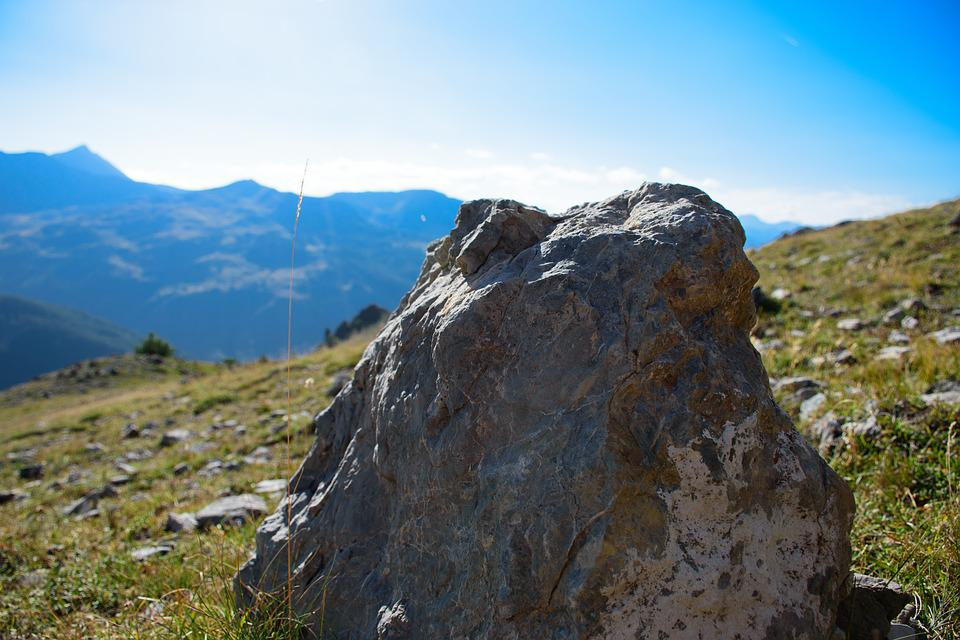 Mountain, Rock, Landscape, Nature, Sky, Pierre, Green