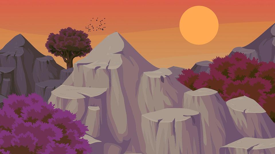 Mountains, Rock, Landscape, Nature, Sky, Scenic, Mood
