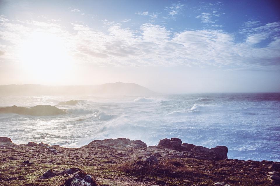 Sea, Sky, Sun, Beach, Rock, Twilight, Travel, Clouds