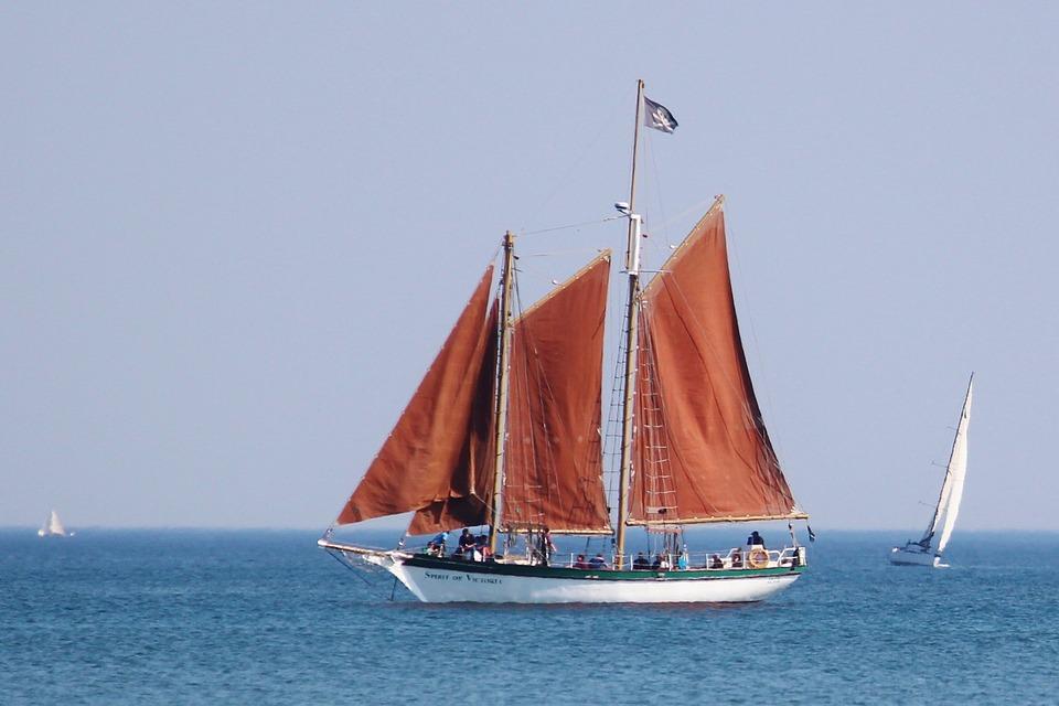 Sailing Boat, Boot, Ship, Sea, Sky, Blue