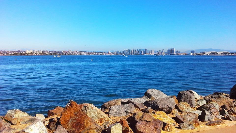 Water, Nature, Sea, Sky, San Diego, Horizon, Shore
