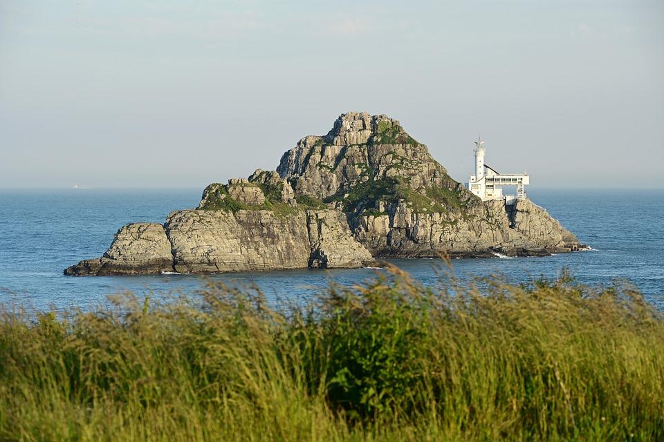 Busan, Oryukdo, Lighthouse, Island, Sea, Pool, Sky