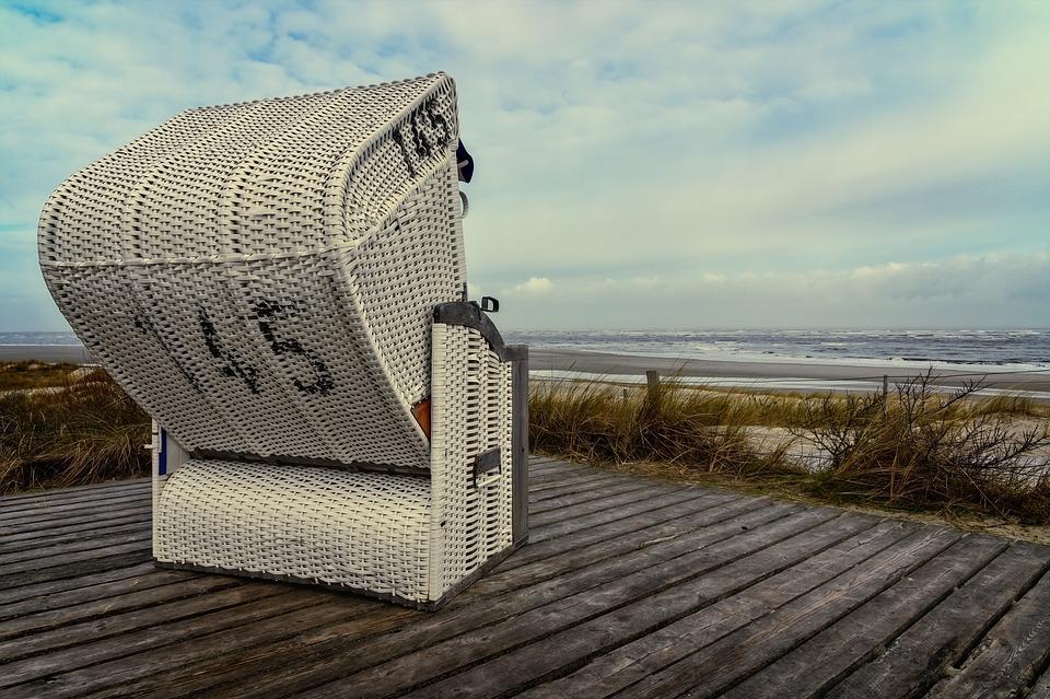 Beach Chair, Sea, Beach, Rest, Wind, North Sea, Sky