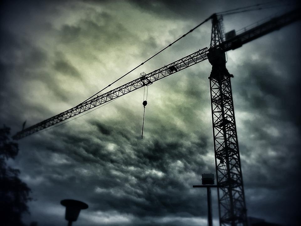 Crane, Construction Work, Sky, Crane Boom, Site, Build