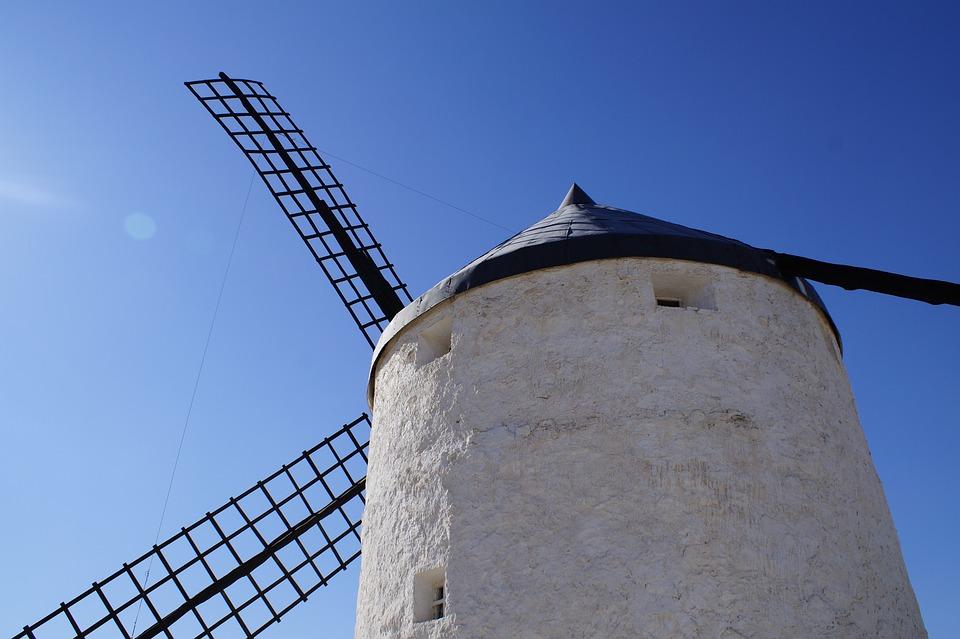 Mill, Consuegra, Toledo, Spain, Sky, Architecture