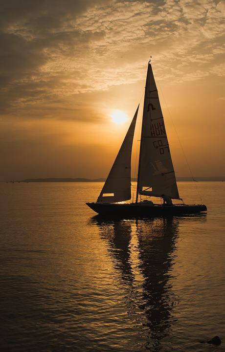 Sailing Boat, Sunset, Summer, Nature, Boat, Water, Sky