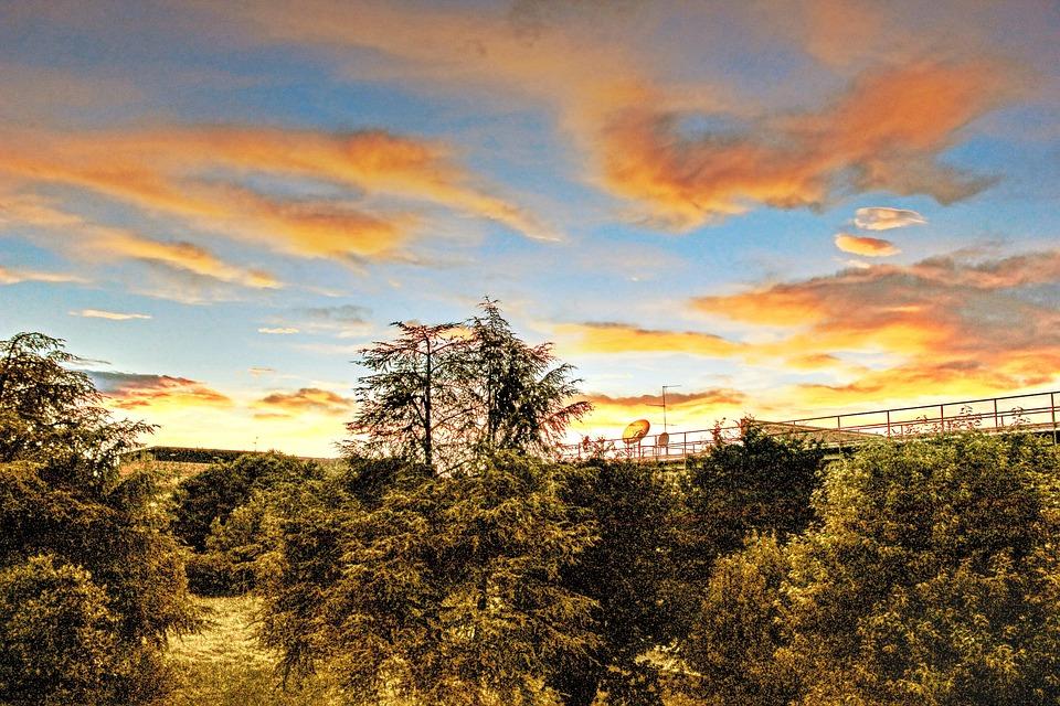 Sunset, Summer, Sky, Clouds, Hdr, Landscape, Evening