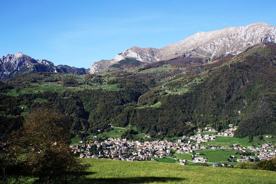 Mountain, Landscape, Sky, Mountains, Italy, Nature, Sun