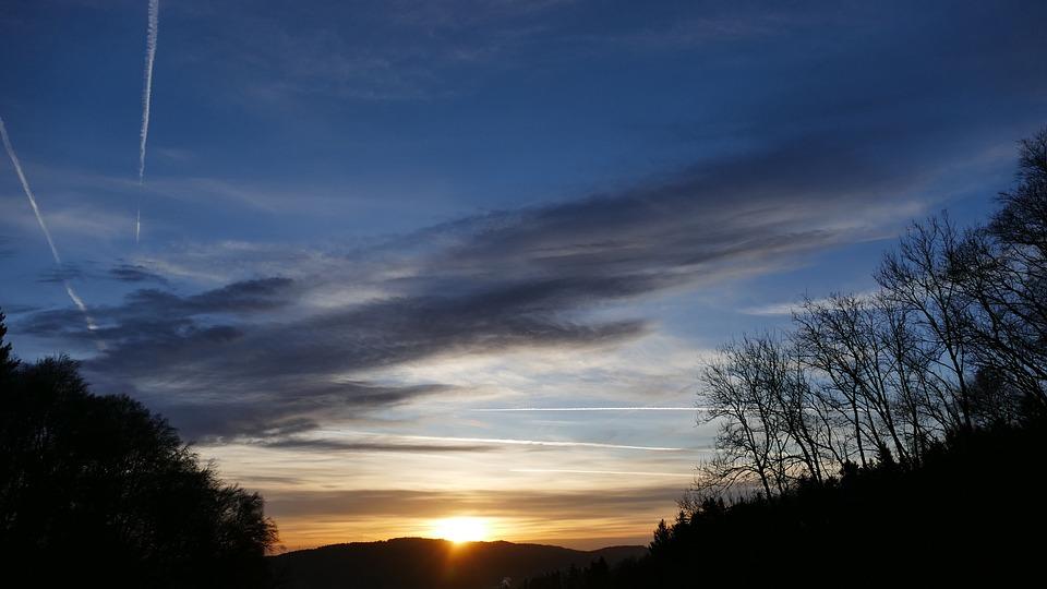 Nature, Landscape, Sun, Sky, Clouds