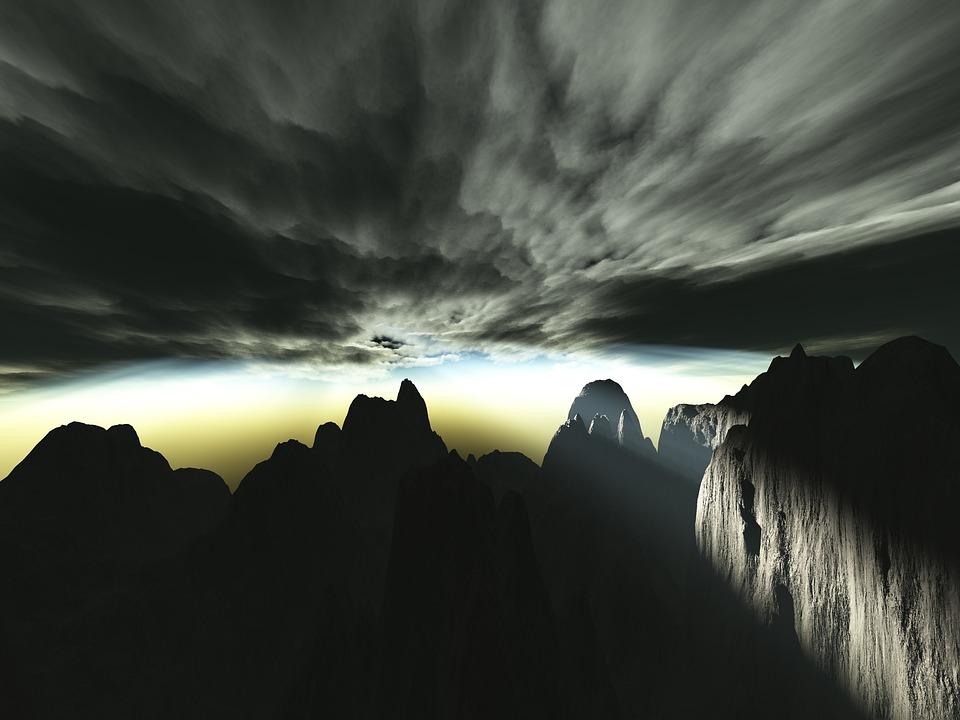 Sunset, Outdoors, Sky, Dawn, Nature, Storm, Rays, Sun