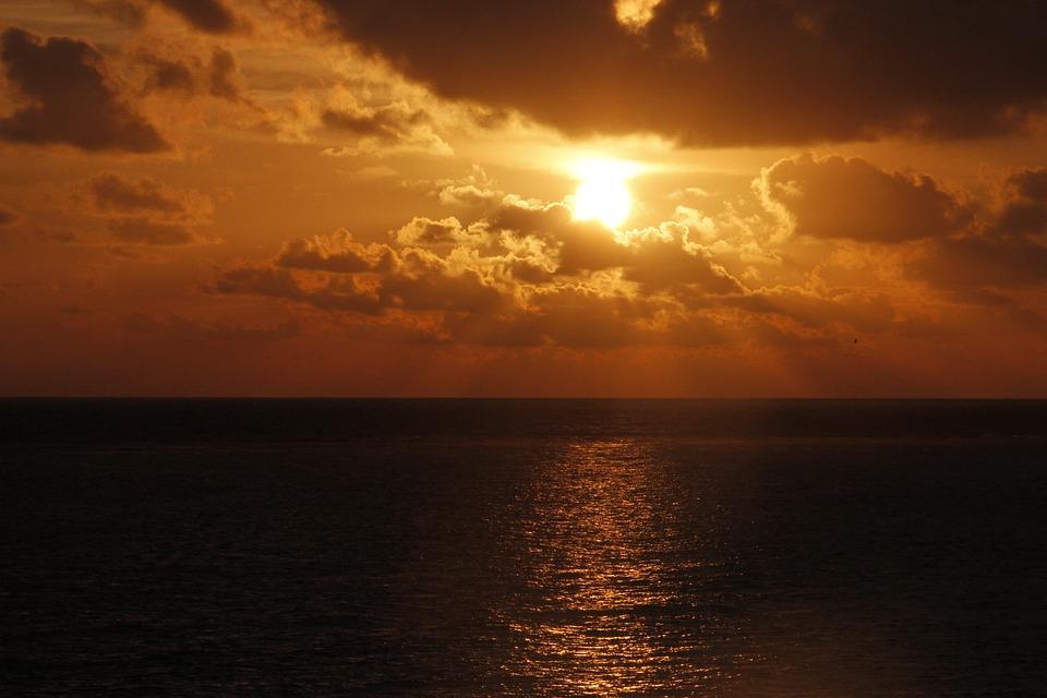 Sunrise, Sun, Sea, Water, Ocean, Nature, Sky, Sunlight