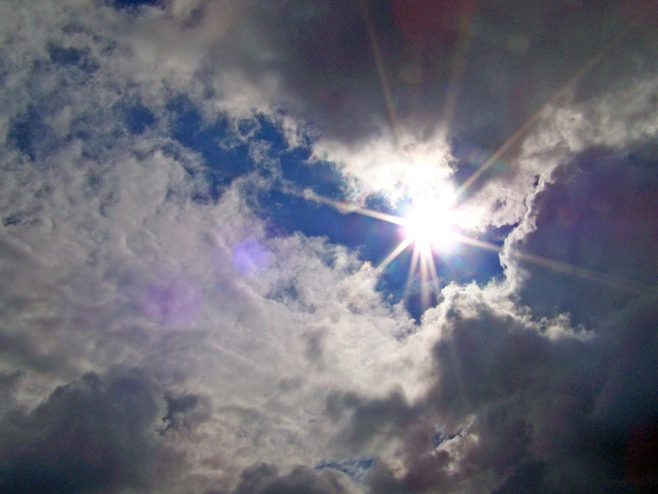 Clouds, Sun, Sky, Weather, Sunlight, Day, Heaven