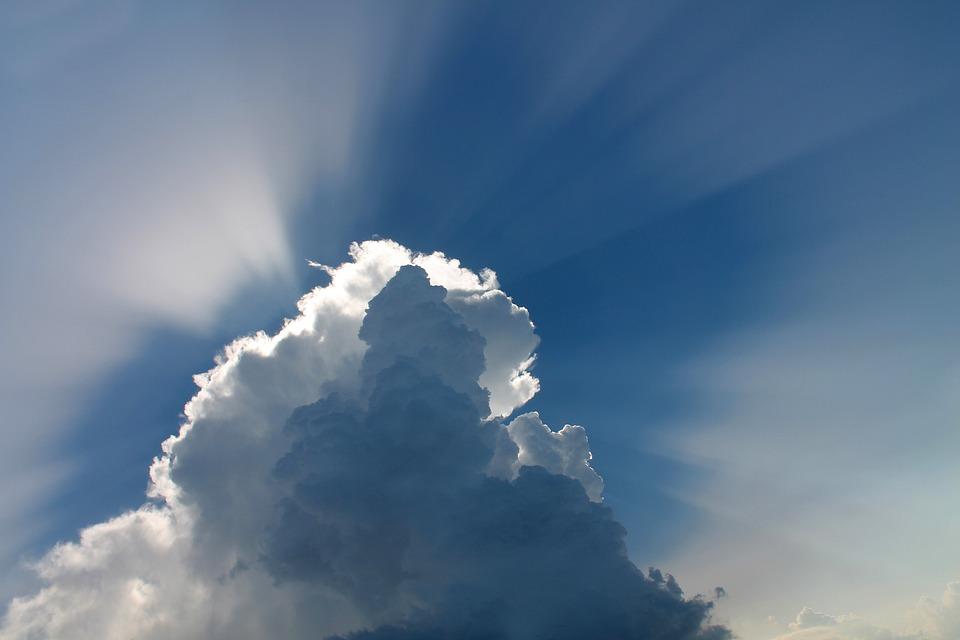 Clouds, Sky, Atmosphere, Sunrays, Cumulus, Blue Sky