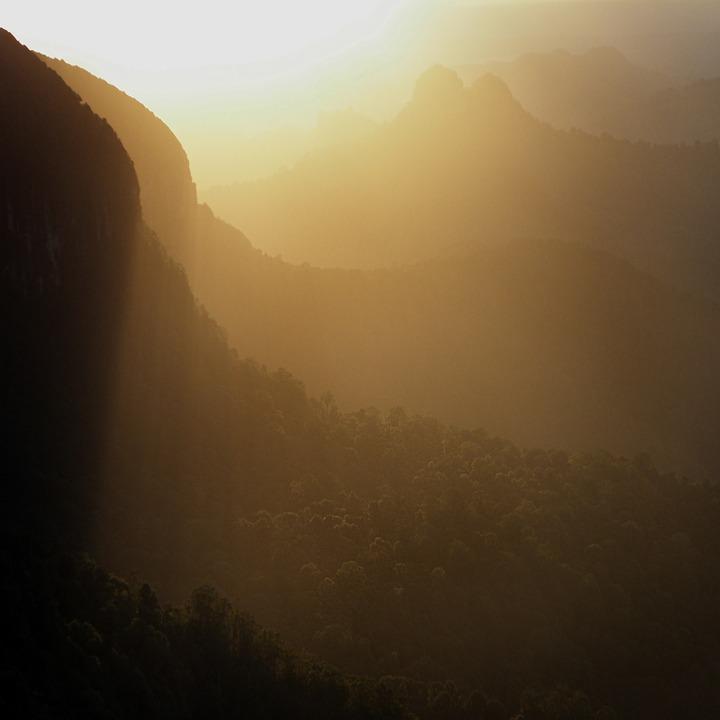 Sunrise, Mountain, Nature, Sky, Landscape, Sun, Summer