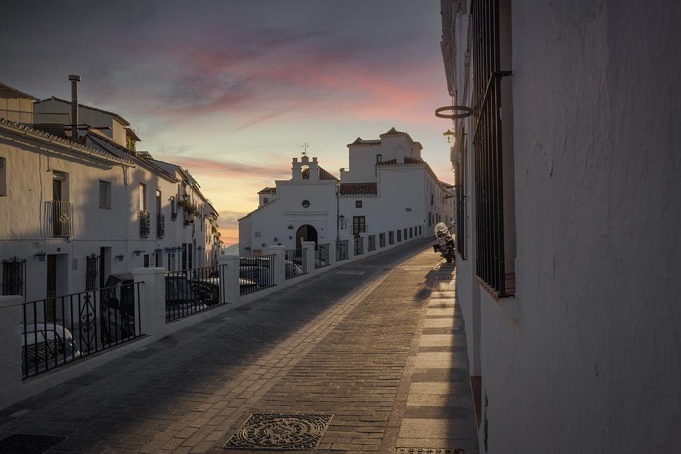 Mijas, Andalusia, Spain, Sunset, Sky, Blue, Peaceful
