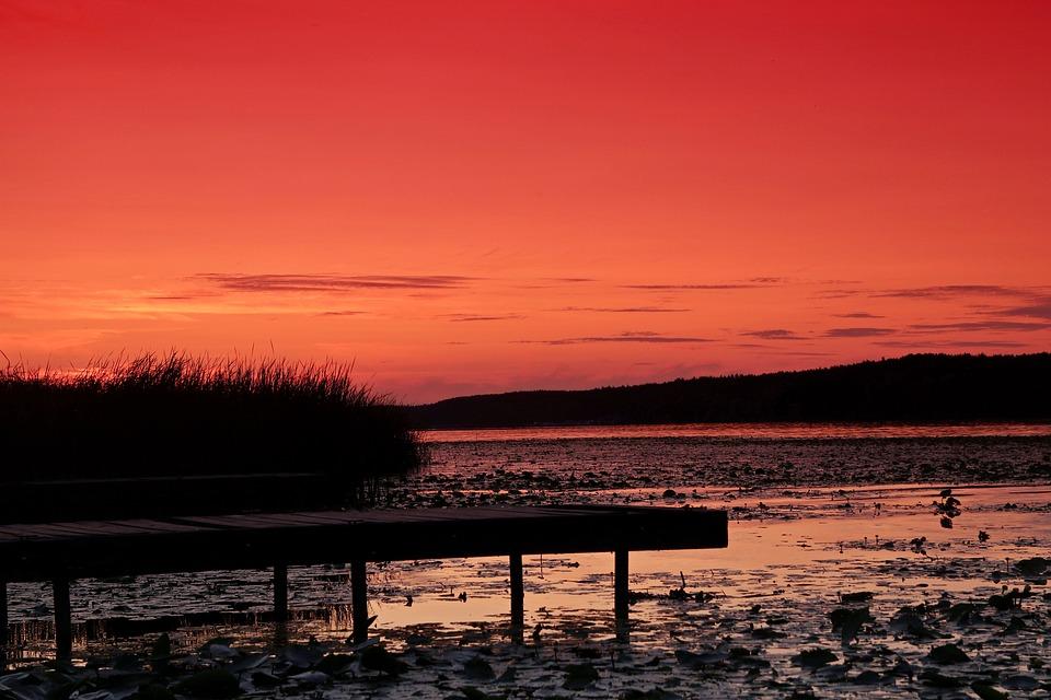 Sunset, The Pier, Sky, Clouds, Landscape