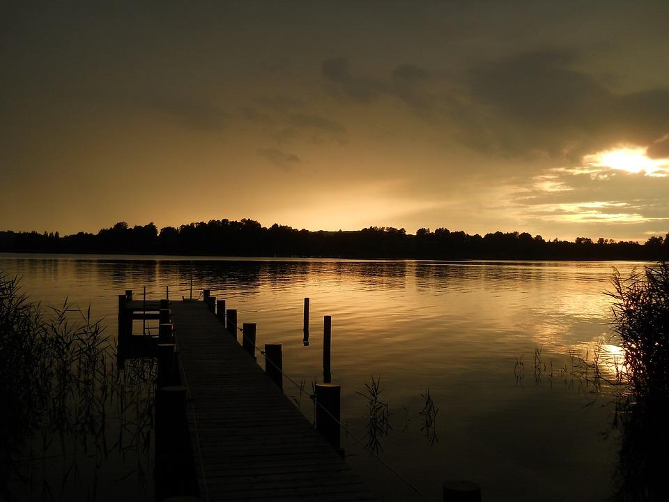 Chiemsee, Sunset, Abendstimmung, Sky, Evening Sky