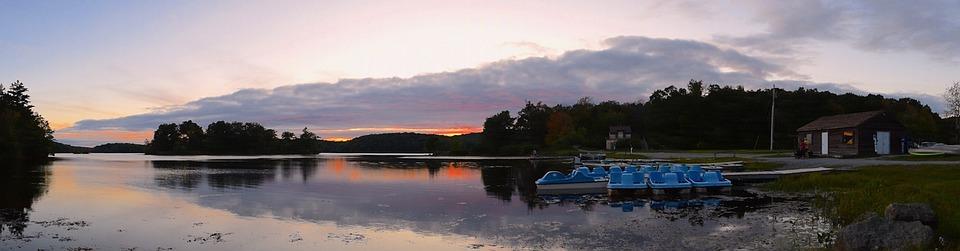 Sunset, Lake, Horizon, Water, Sky, Nature, Landscape