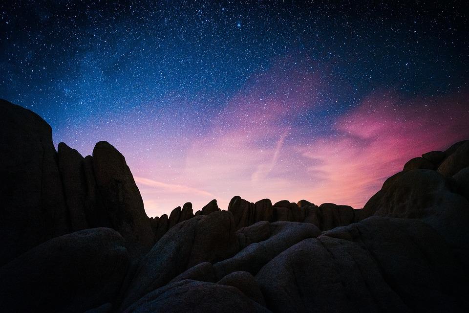 Sunset, Sky, Cloud, Nature, Rocks, Cliff, Landscaspe