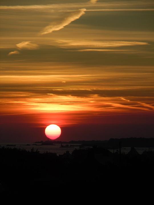 Sunset, Afterglow, Evening Sky, Sun, Sky, Nature