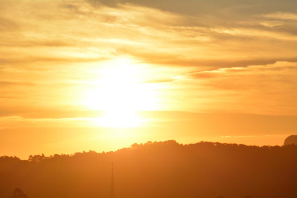 Sunset, Silhouettes, Landscape, Nature, Sky, Dusk