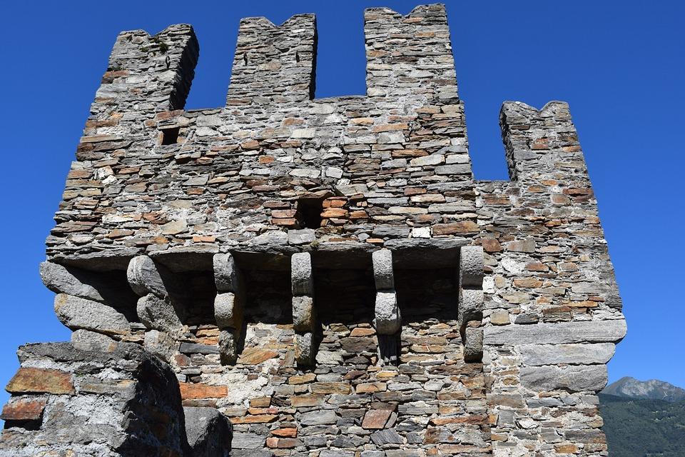 Torre, Rocca, Medievo, Switzerland, Bellinzona, Sky