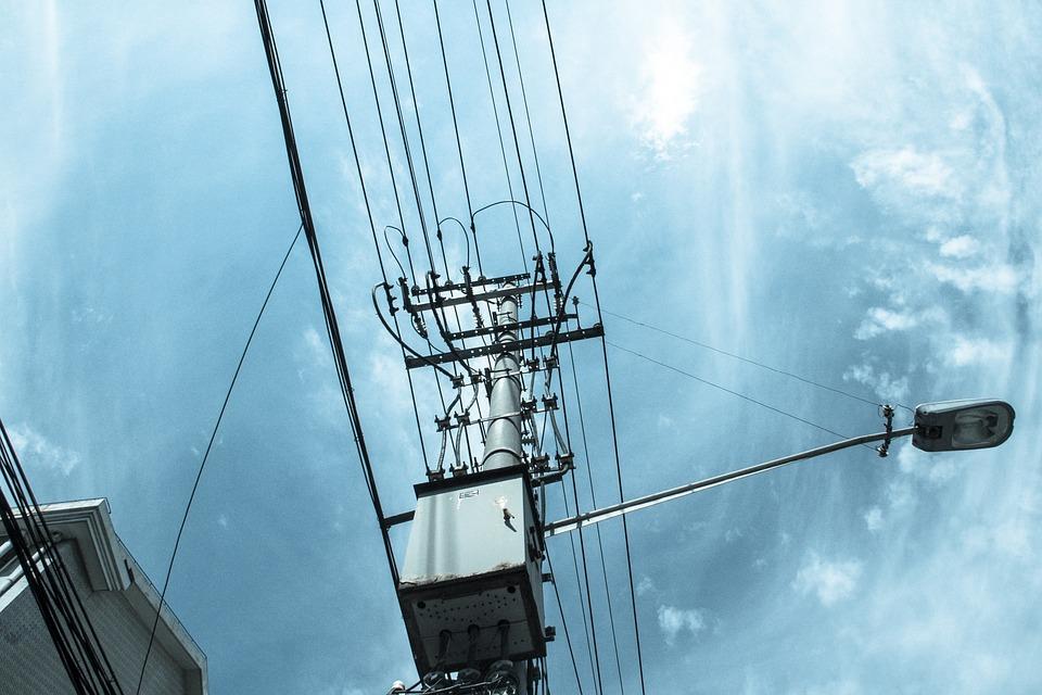 Telephone Poles, Cloudy Day, Sky, Look, Street Lamp