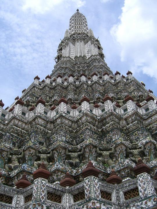 Thailand, Tower, Stone, Sky