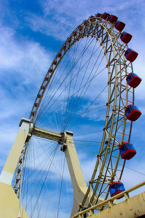 The Ferris Wheel, Sky, Free, Tianjin Eye