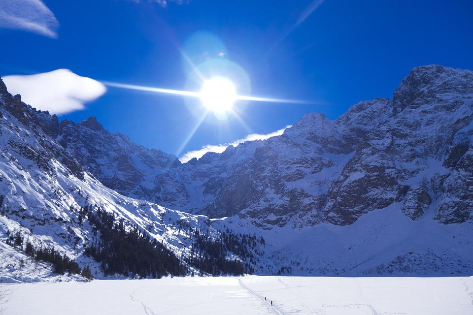 Tatry, Mountains, Winter In The Mountains, Sky, The Sun