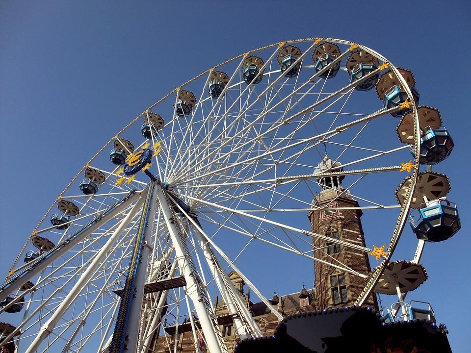 Venlo, Netherlands, Ferris Wheel, Town Hall, Sky