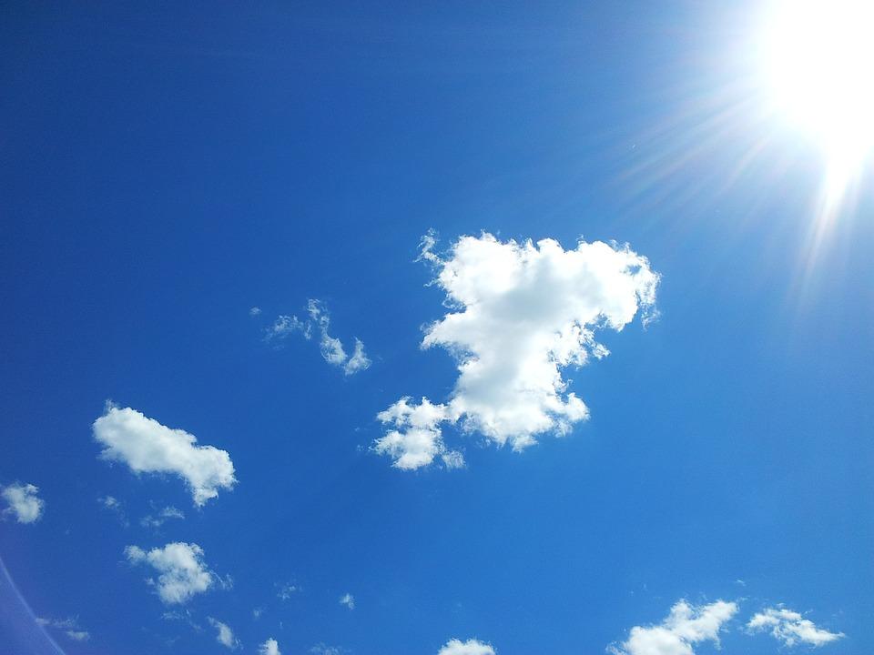 Blue, Sky, Sun, Clouds, Blue Sky, Tranquility, Cloud