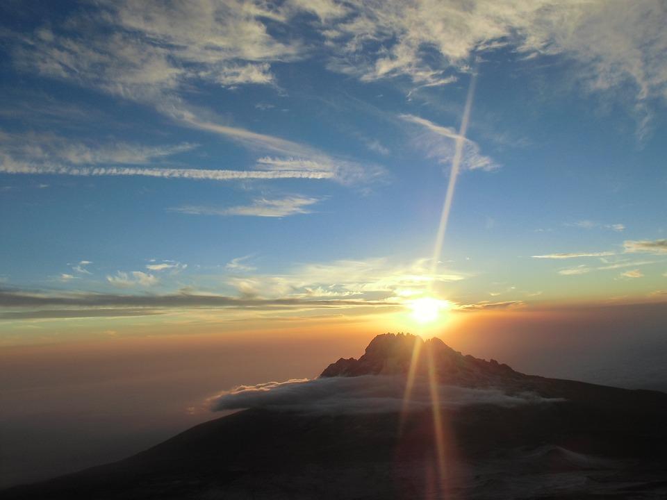 Kilimanjaro, Sunrise, Mountain, Sky, Travel, View, High