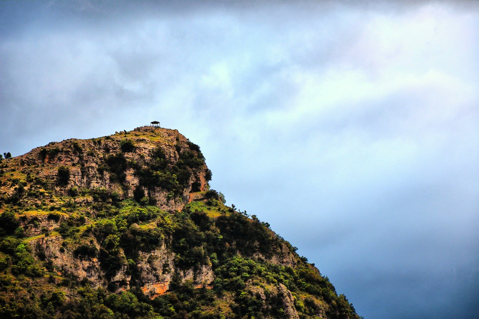 Cliff, Clouds, Mountain, Sky, Nature, Rock, Travel