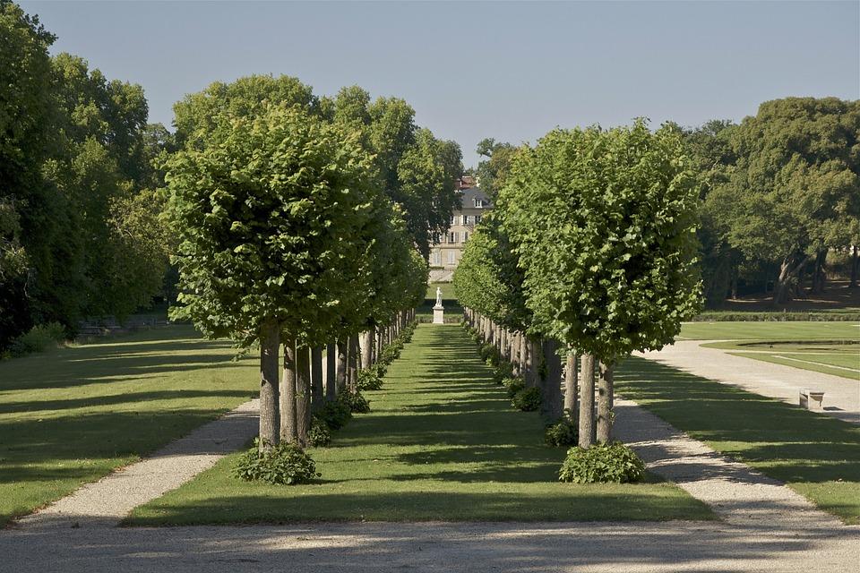 Chantilly, France, Landscape, Sky, Clouds, Trees