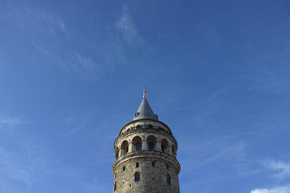 Galata, Old, Date, Turkey, City, Landscape, Peace, Sky