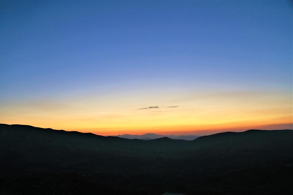 Mountains, Sunset, Sky, Sunrise, Dusk, Dawn, Twilight